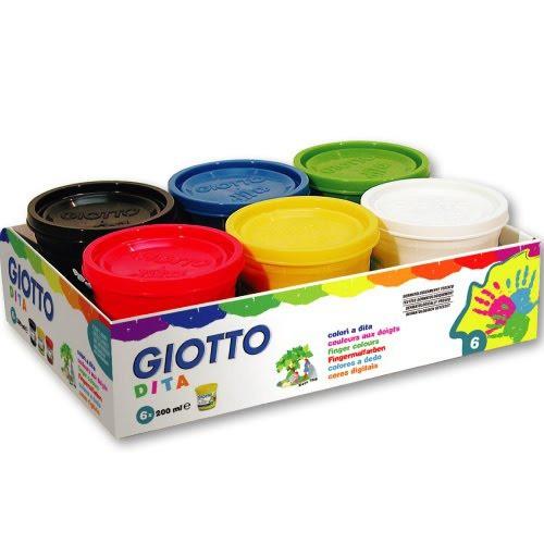 【義大利GIOTTO】幼兒安全手指膏(6色)200ml  產地:法國  加贈750ml手指膏1瓶(顏色隨機)