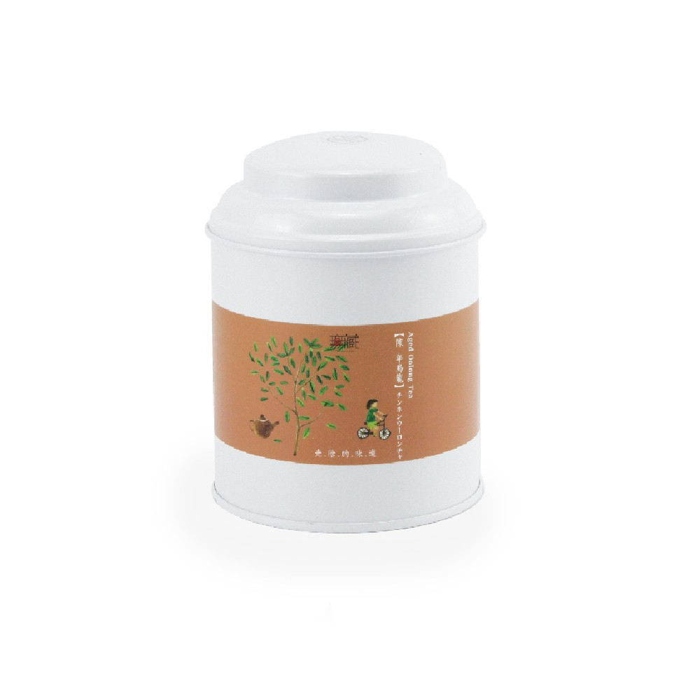 【無藏故事茶】阿里山陳年烏龍茶_光陰的味道故事茶_100g圓茶葉罐裝