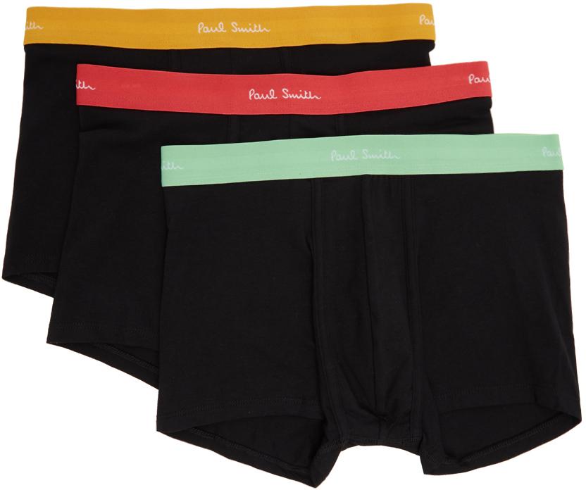 Paul Smith 三件装黑色 Trunk 平角内裤