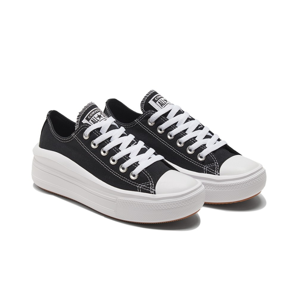 CONVERSE-女款低筒厚底 帆布鞋-570256C -黑色 All Star Move 厚底 增高