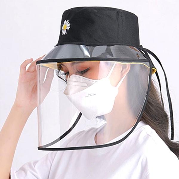 升級款繫繩式大人小孩通用款防飛沬灰塵透明防護罩 (不含帽子) 1入