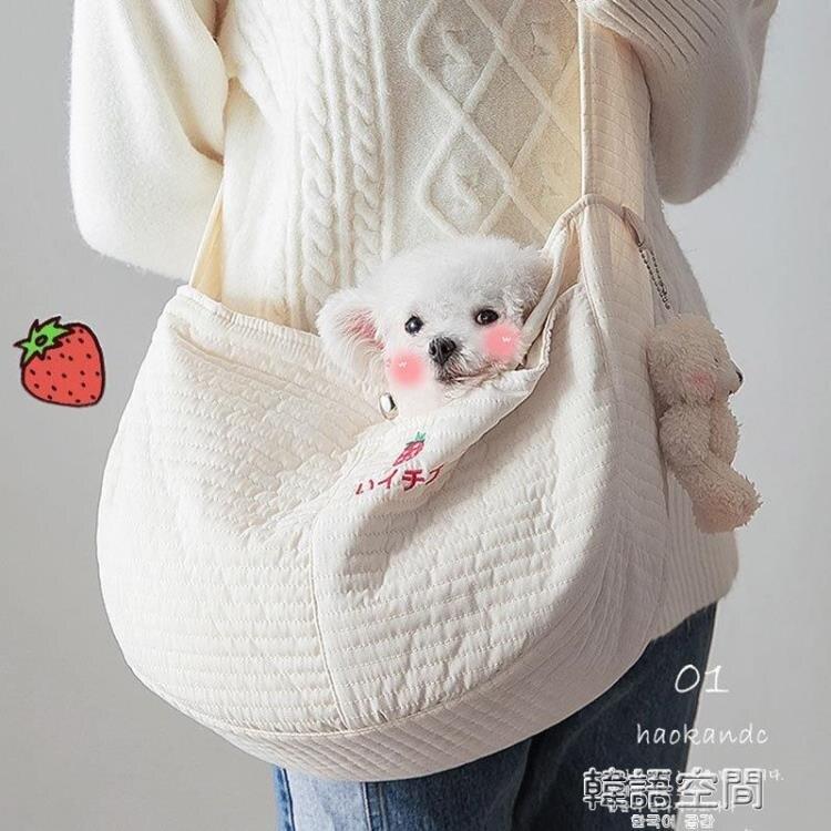 韓國手工帆布包可愛的寵物包ulzzang斜挎包貓外出背包