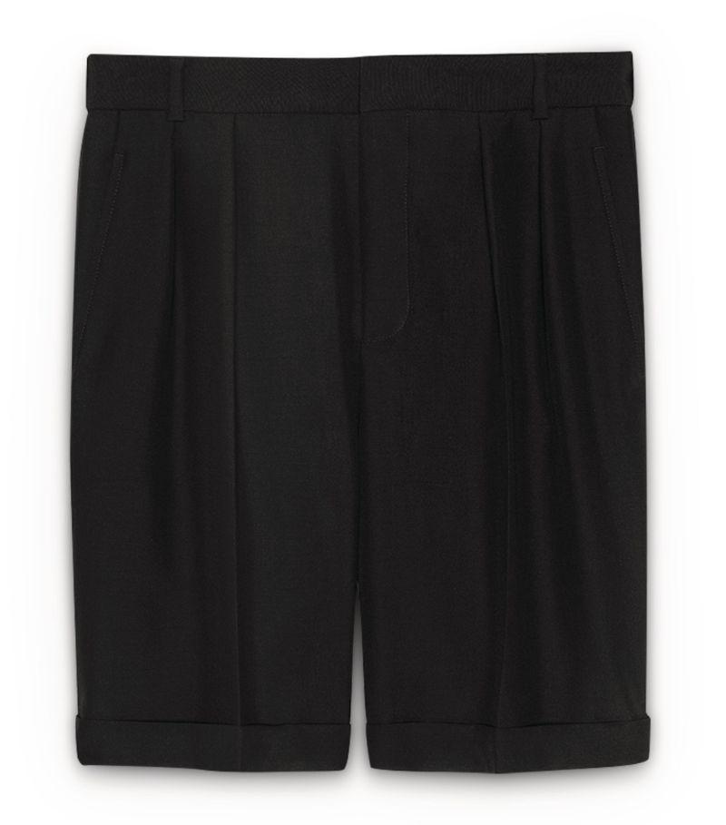 Saint Laurent Wool-Mohair Shorts