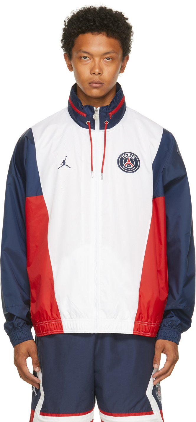 Nike Jordan 白色 Paris Saint-Germain 联名拉链夹克