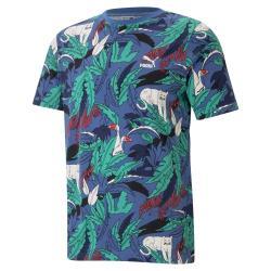PUMA Classics 男裝 短袖 純棉 休閒 滿版 印花 綠 歐規【運動世界】59982313