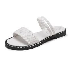 【Taroko】夏日步調編織2穿平底涼鞋(2色可選)