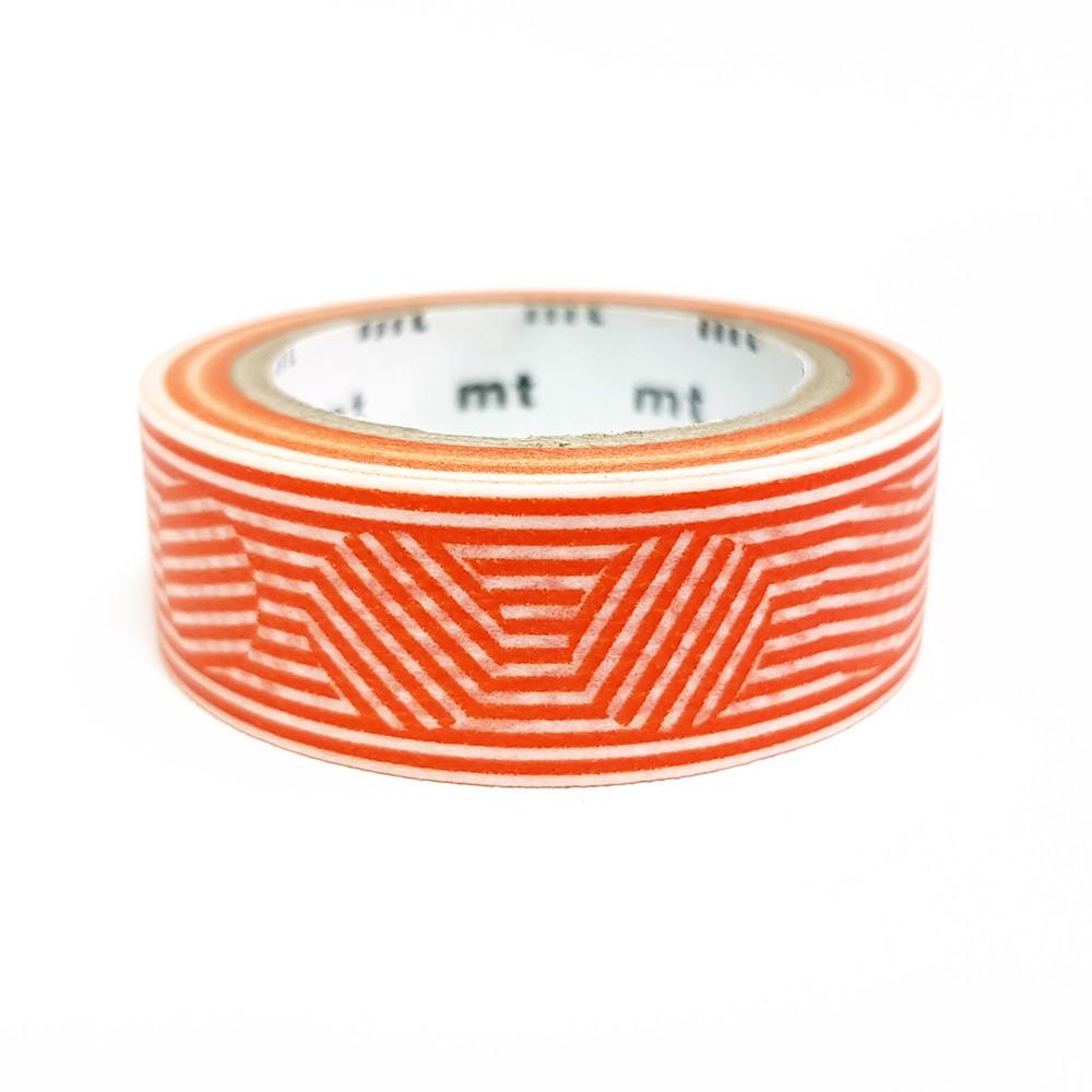 mt Deco 和紙膠帶 / 線與圓 - 橘 (MT01D436) / 2019SS
