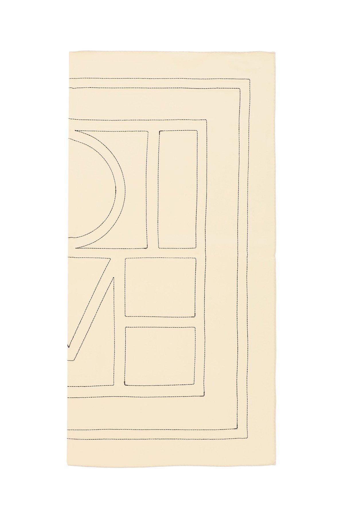 Toteme monogram embroidered silk scarf