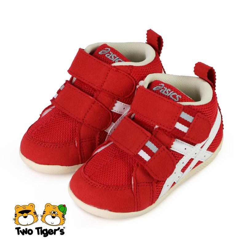 ASICS 亞瑟士 SUKU 高筒 學步鞋 寶寶鞋 小童鞋 紅色 NO.R6093