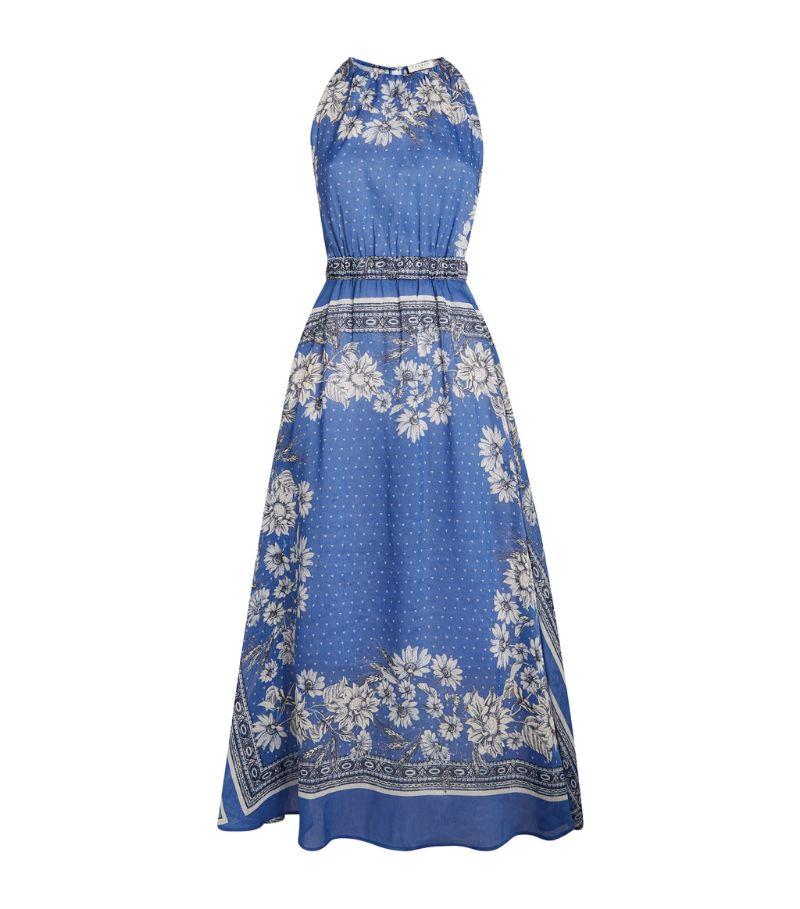 Sandro Paris Linen-Silk Midi Dress