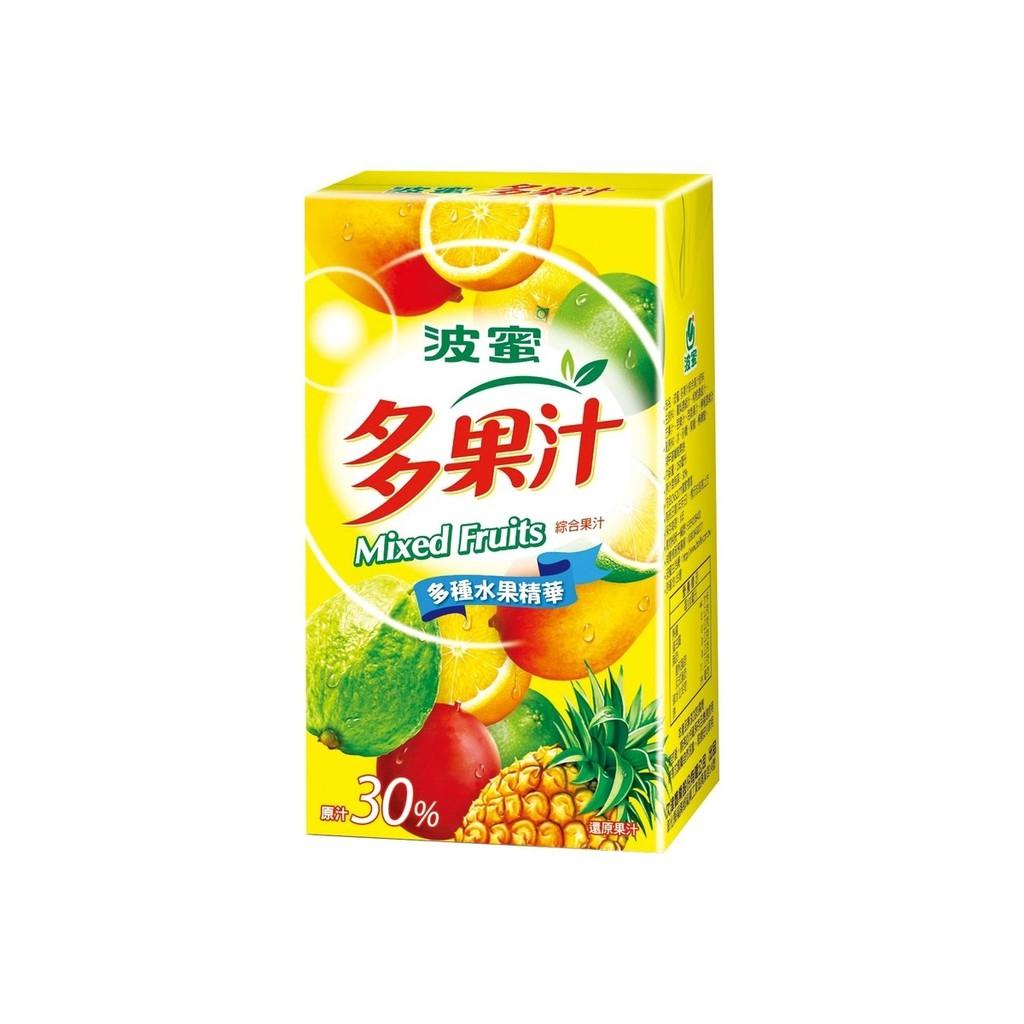 波蜜多果汁 250mlx24包/箱  【大潤發】