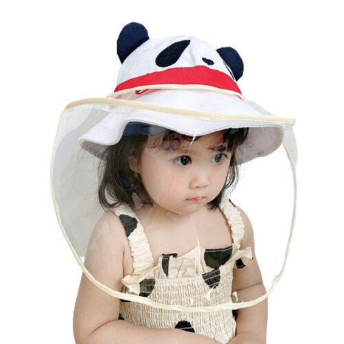 兒童 大人 透明可調節攜帶型防疫面罩 防飛沫唾液 防護帽 防疫帽 隔離面罩 帽子 童裝 橘魔法 現貨【p0061226444017】