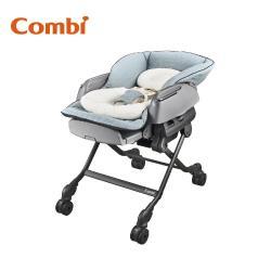 日本Combi BEDi Long MT 手動安撫餐搖椅 贈餐椅專用日式網格蚊帳(灰)