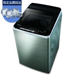 買就送餐具10件組★Panasonic國際牌13公斤雙科技變頻洗衣機(不鏽鋼)NA-V130EBS-S-庫