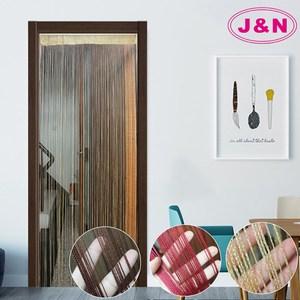 【J&N】素色線簾90x230金色 咖啡 紅色(任選-1入)咖啡