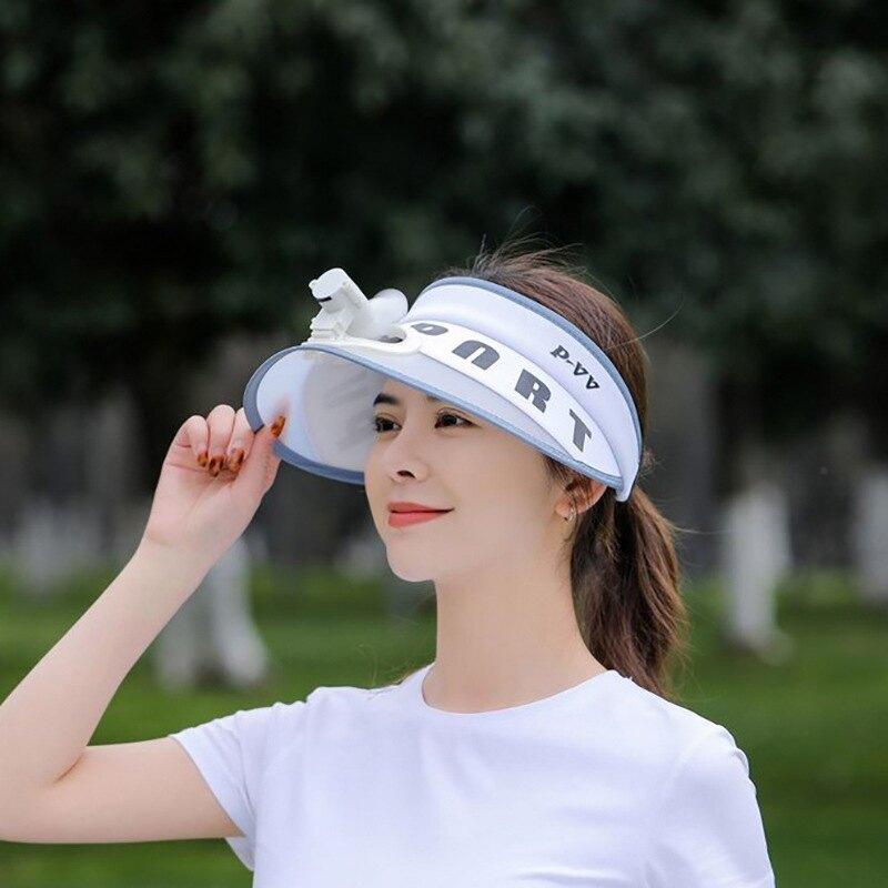 帶電風扇的帽子大人充電鋰電池太陽帽防曬遮陽帽男女夏季出游情侶