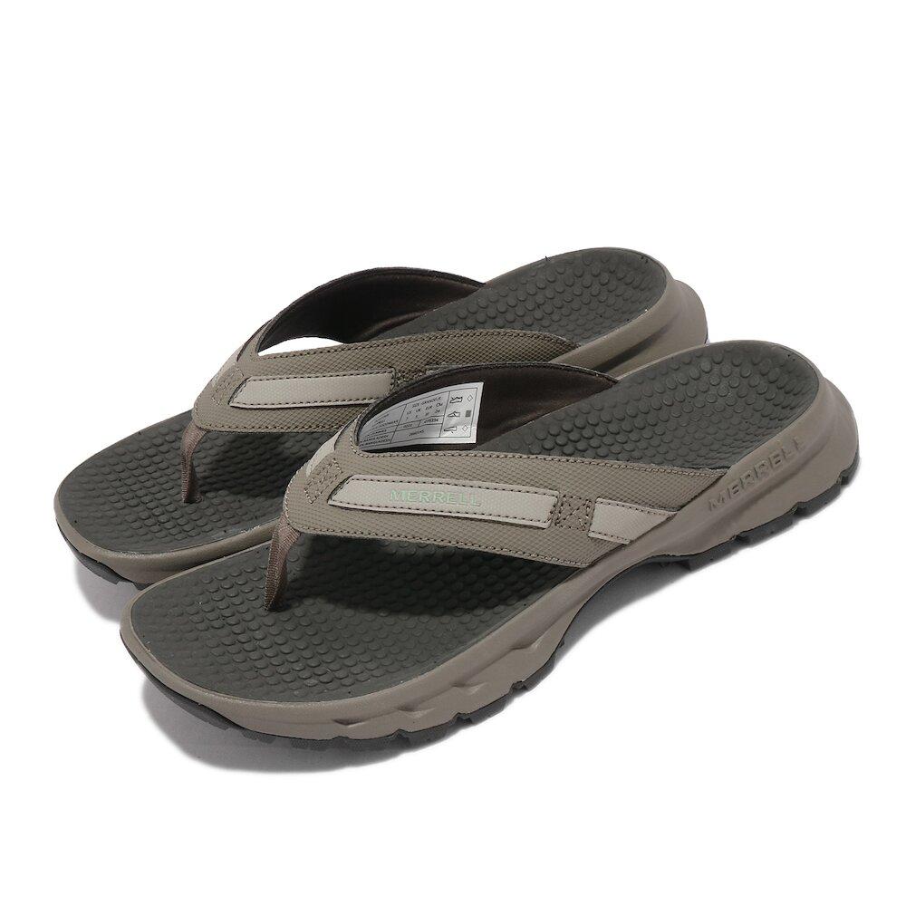 MERRELL 拖鞋 Cedrus Flip 3 人字拖 女鞋 防水布內裡 緩衝 耐磨 抓地 灰 卡其 [ML036394]