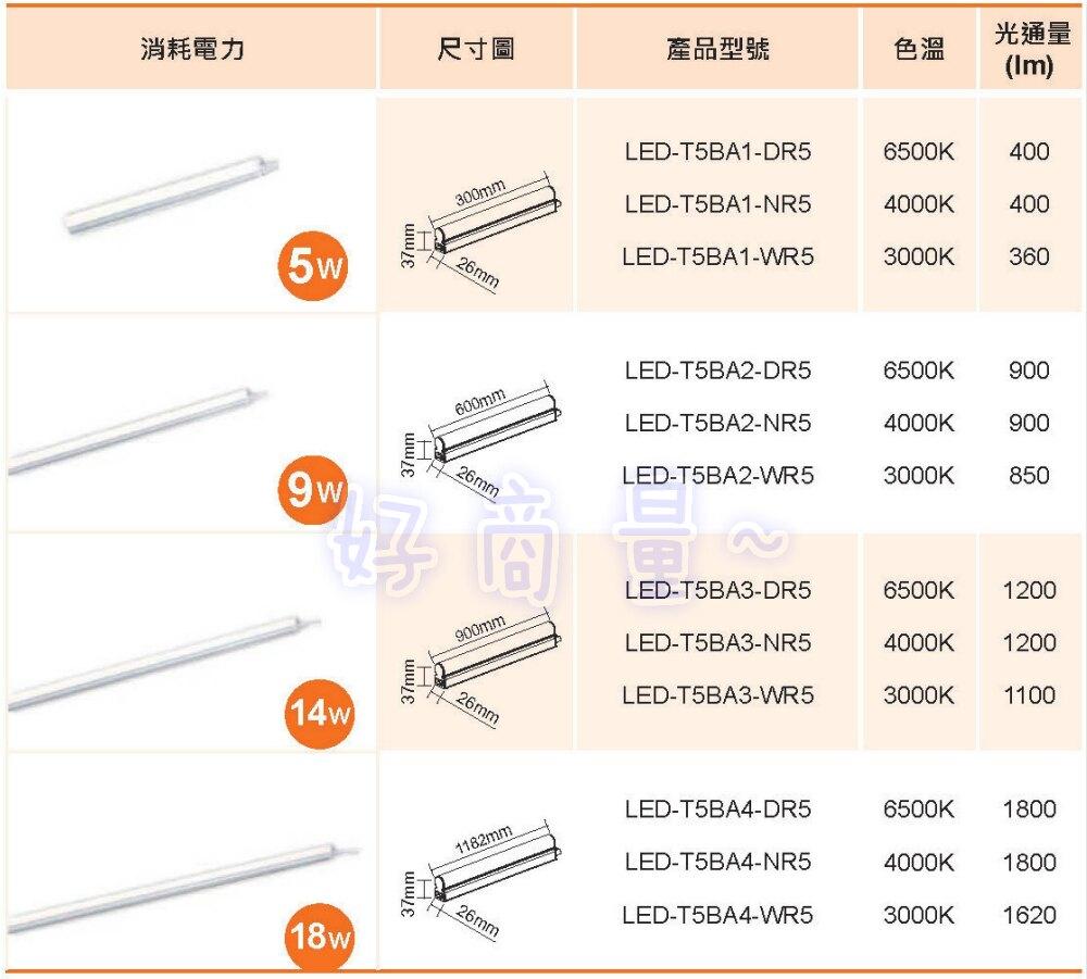 好視多~ 舞光 14W LED 支架燈 層板燈 3尺 (附串接線)
