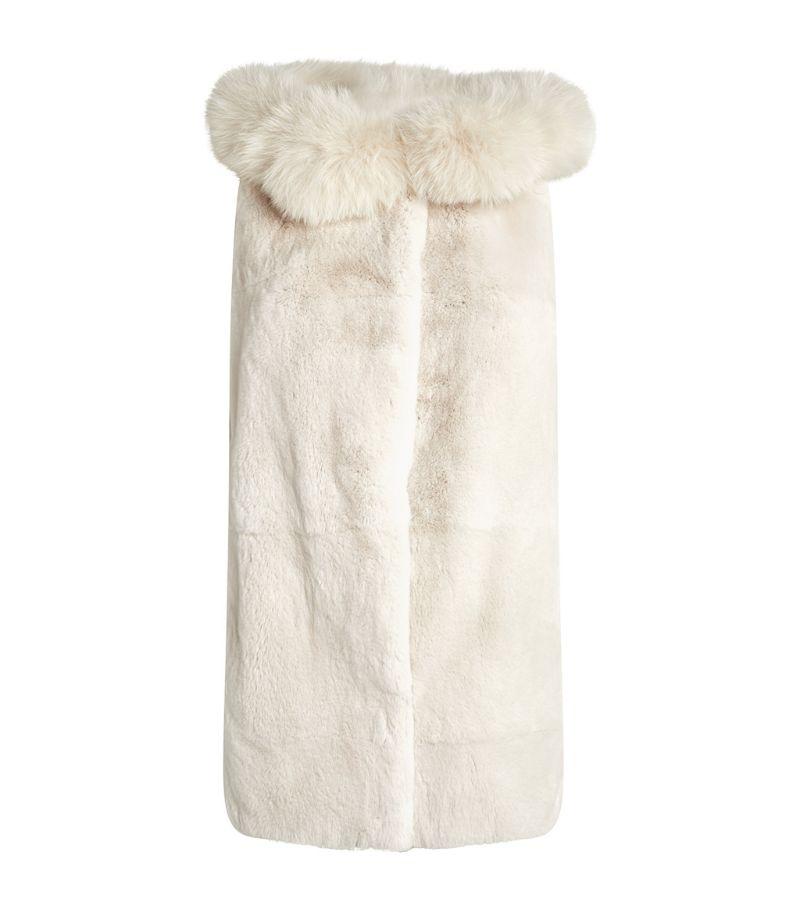 Yves Salomon Hooded Fur Gilet