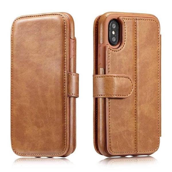 手機配件 仿真皮紋適用iphone X手機保護套翻蓋分體插卡支架蘋果8商務皮套手機殼 手機套 皮套