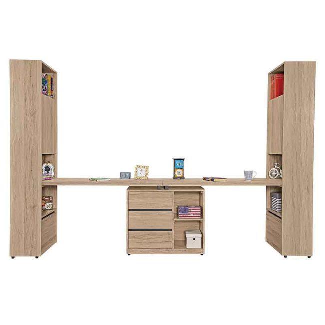 【GB522-8】祖克柏9.9尺雙人組合書桌櫃(全組