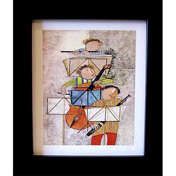 開運陶源 【霹靂三重奏】Boulanger布蘭潔三重奏系列 世界名畫 掛畫 複製畫 壁飾 38x32cm