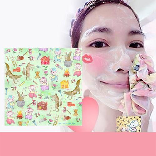 Pikka Pikka A51 三隻小豬 林鴒 日本製 臉部毛孔潔淨布 洗臉布 花猴分享 熱賣中!