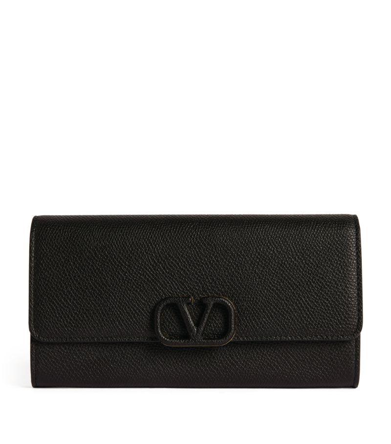 Valentino Valentino Garavani Leather Continental Wallet