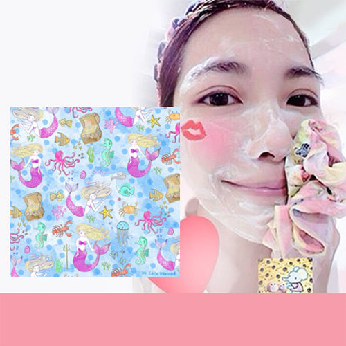 Pikka Pikka A36 美人魚公主 林鴒 日本製 臉部毛孔潔淨布 洗臉布 花猴分享 熱賣中!