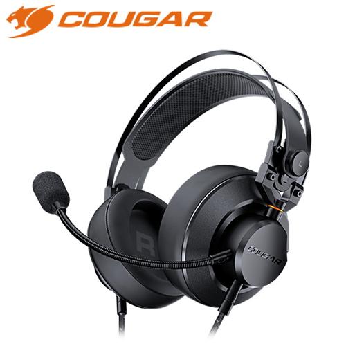 COUGAR 美洲獅 VM410 耳罩式電競耳機 黑