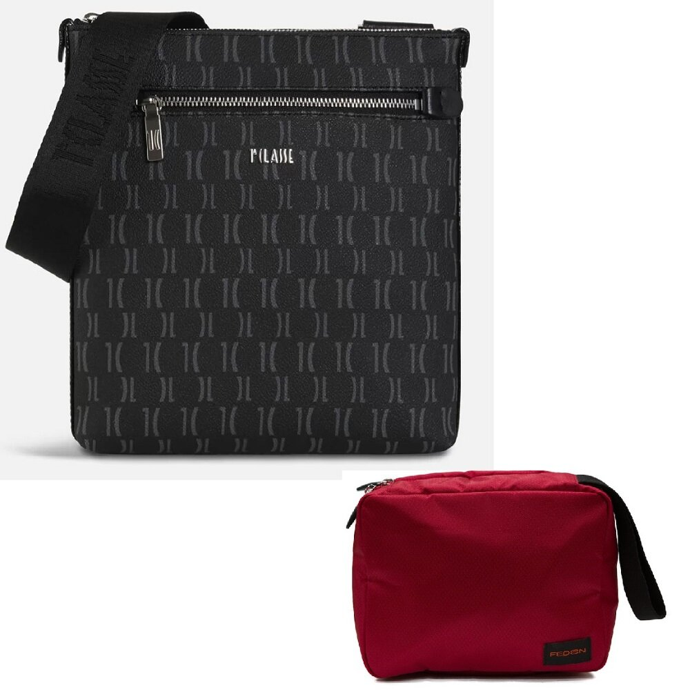 【Alviero Martini 義大利地圖包】超值福袋組 斜側LOGO背包+旅行盥洗收納包