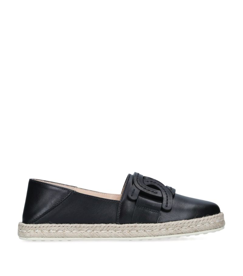 Tod'S Leather Chain Espadrilles