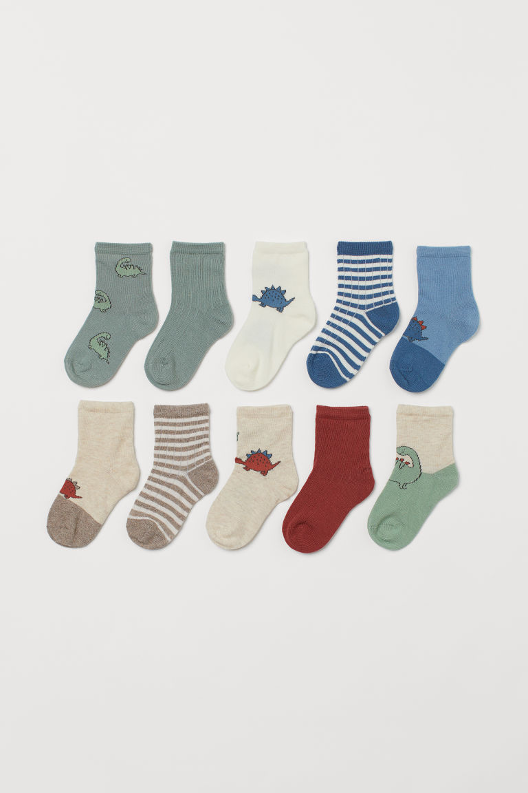 H & M - 10雙入襪子 - 藍色