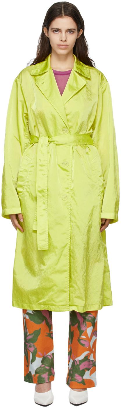 Dries Van Noten 绿色束带风衣