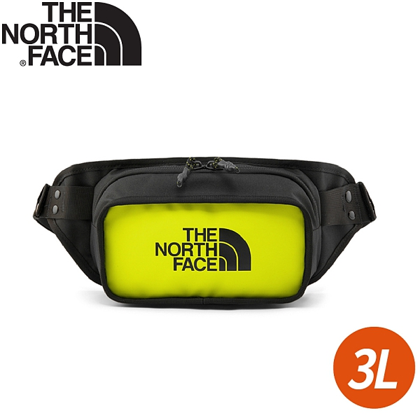 【The North Face EXPLORE HIP PACK 3L腰包《螢光黃》】3KZX/腰包/側背包/鞋背包/小包