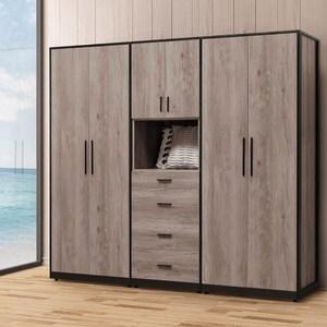 古橡木7.2尺衣櫥
