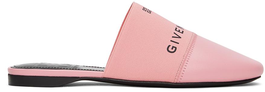 Givenchy 粉色 Paris 穆勒鞋