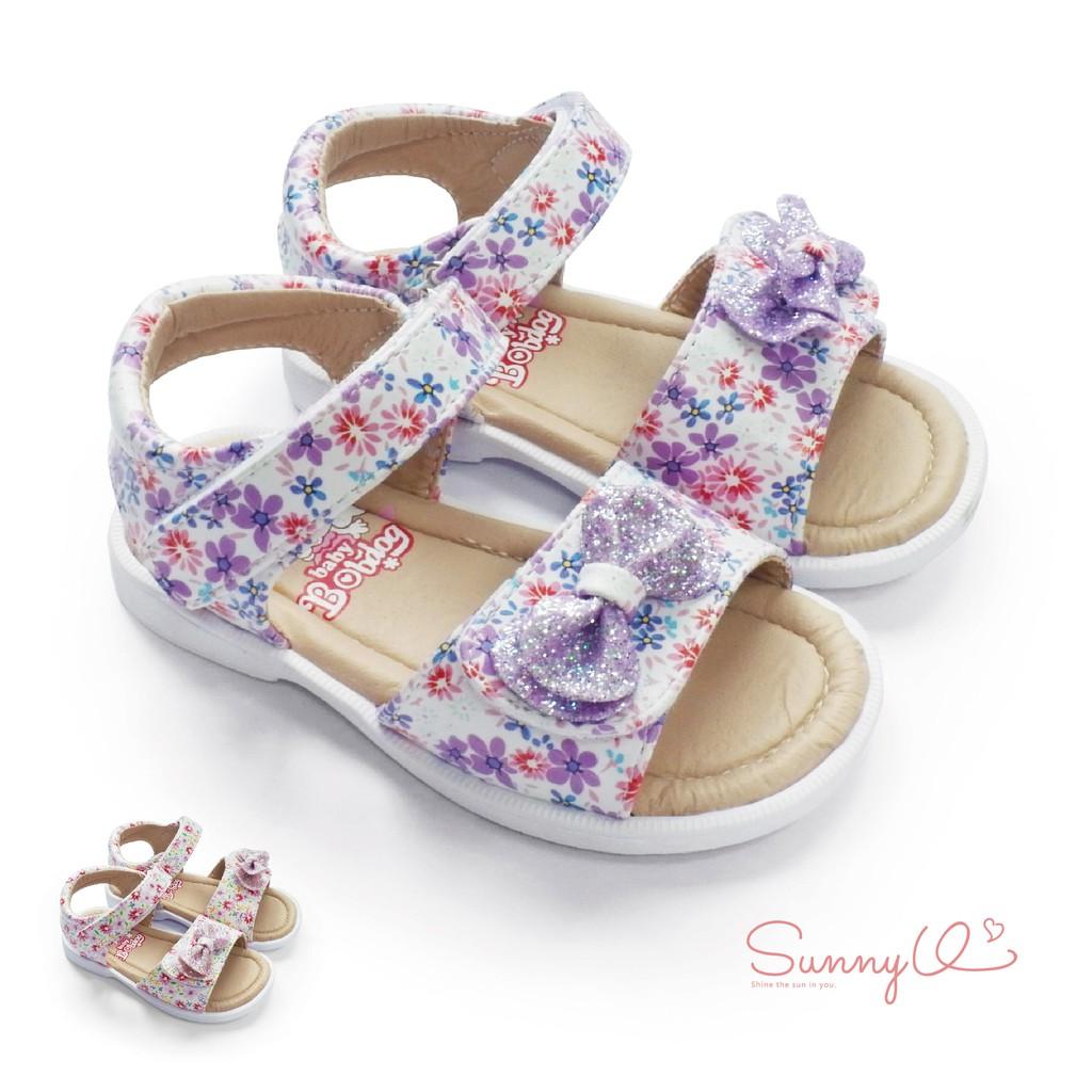 童鞋-繽紛花花可調式公主童涼鞋-J1908