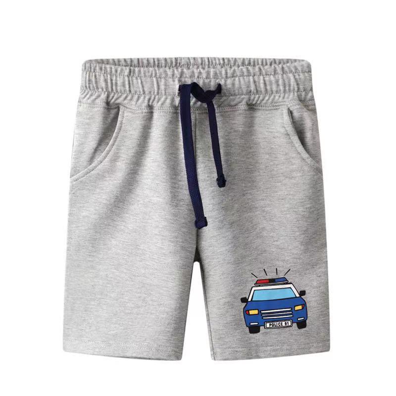 外銷款  歐美夏季男童汽車純棉百搭短褲