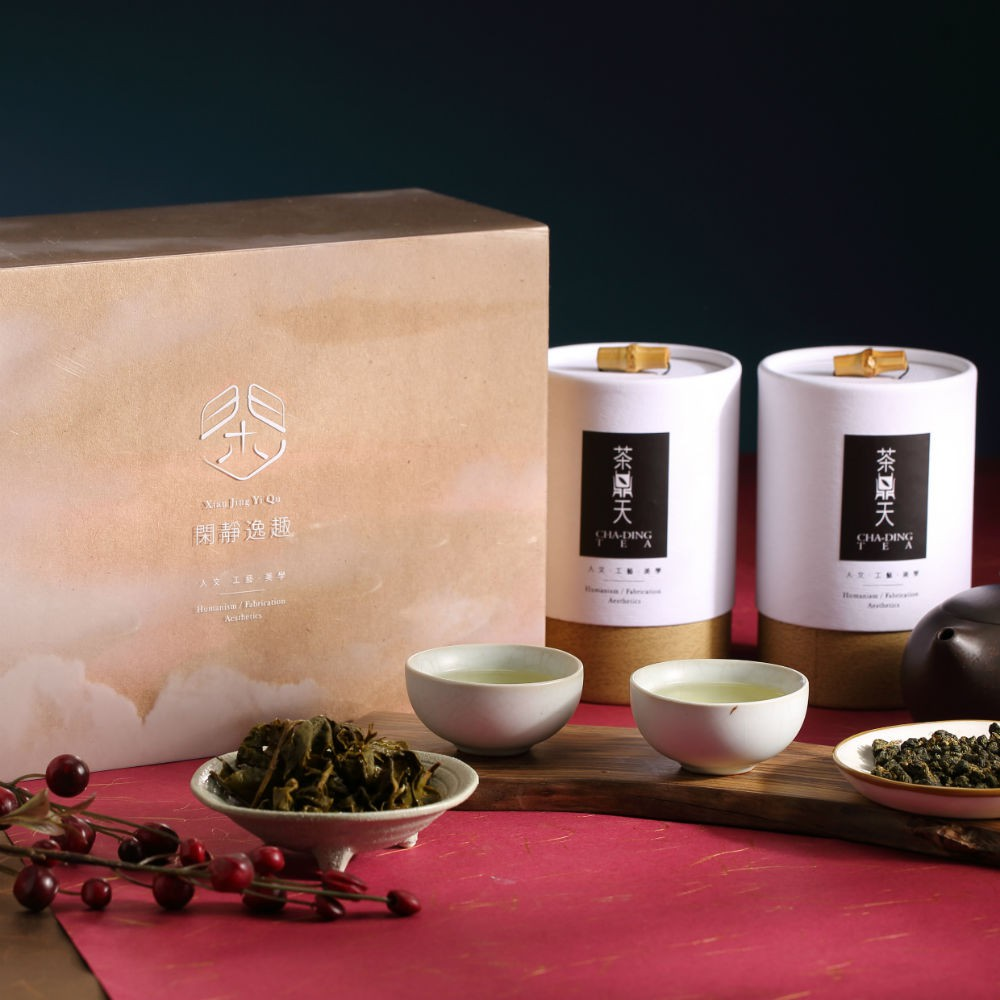 【茶鼎天】閑靜逸趣 杉林溪高山茶禮盒 附提袋