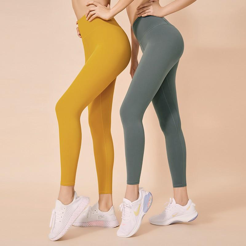 QUEEN YOGA新款祼感提臀收腹顯瘦九分褲