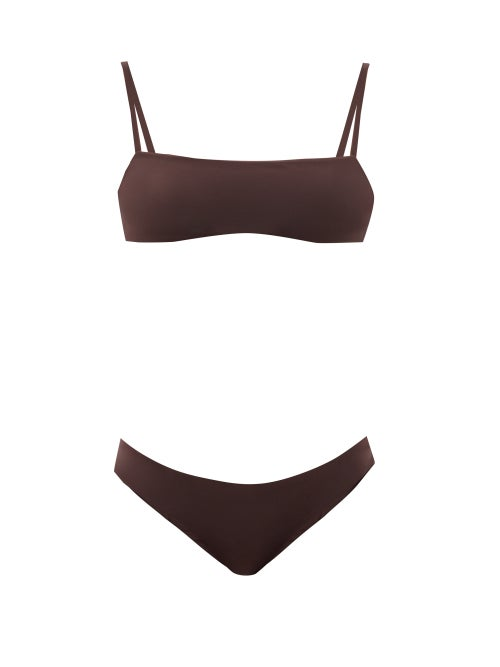 Jil Sander - Square-neck Bikini - Womens - Brown