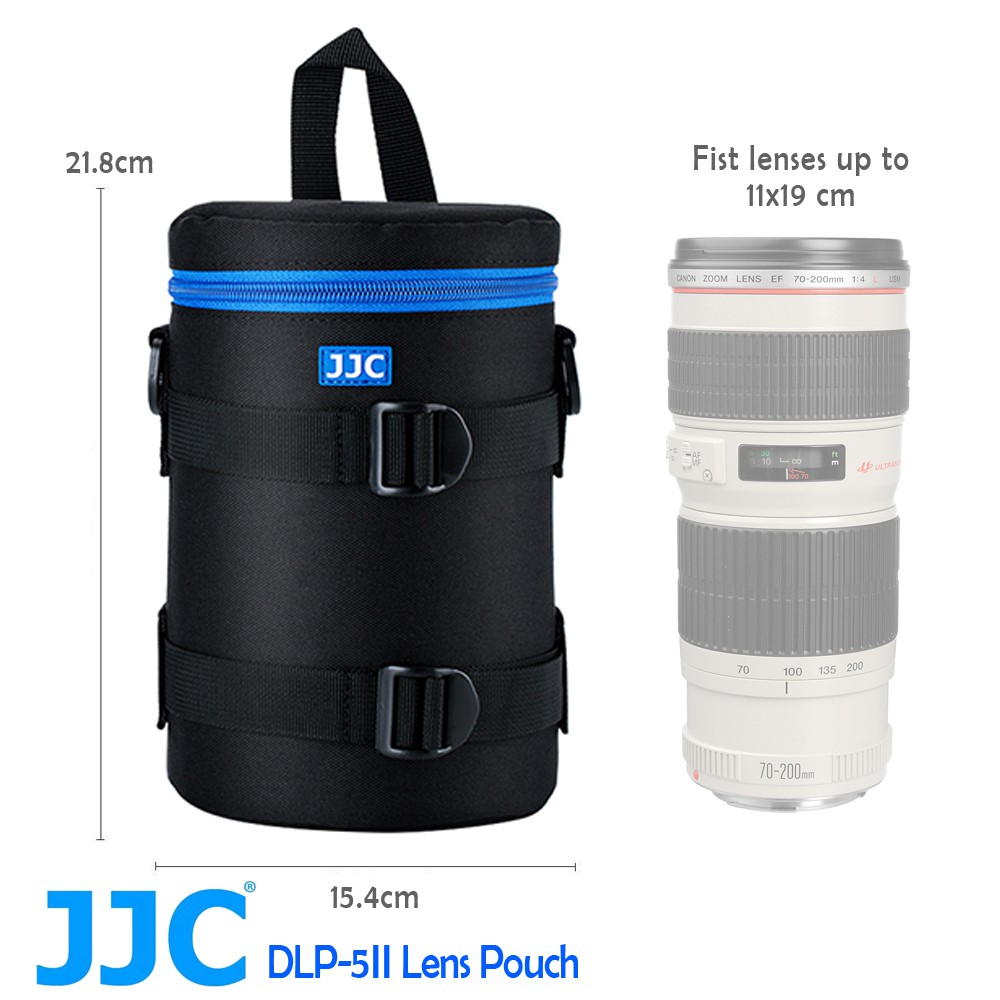 JJC DLP-5 二代 豪華便利鏡頭袋 鏡頭收納袋 110x190mm 外層防水材質布料  內部厚實珍珠泡棉
