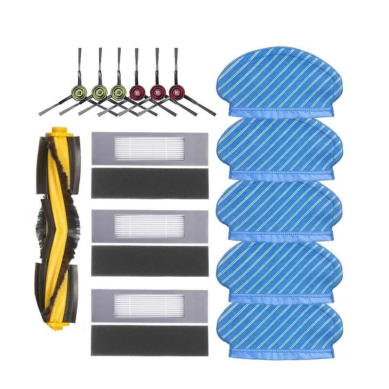 Ecovacs Deebot Ozmo 920 950吸塵拖把布套組 5個拖把布,6個側刷,1個滾刷,3個Hepa過濾器