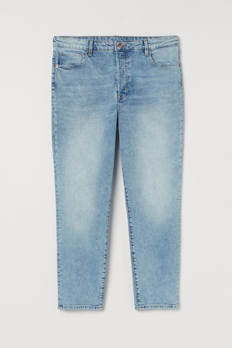 H & M - 女友中腰牛仔褲 - 藍色