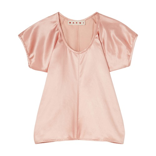 Cap-sleeve blouse