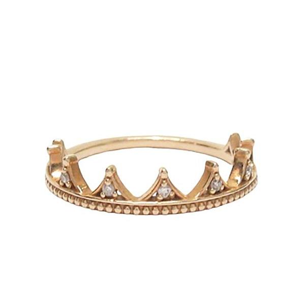 AGETE 阿卡朵 10K金皇冠鑲鑽造型戒指 輕珠寶 【BRAND OFF】