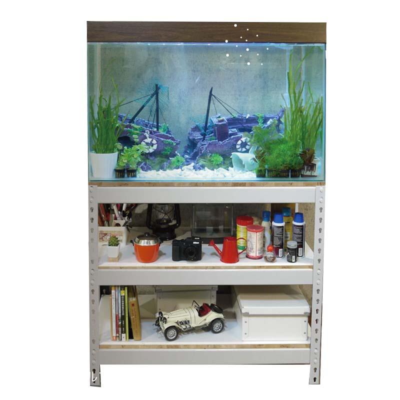 3呎缸架 雪皓白魚缸櫃「空間特工」水族底櫃 水草缸 展示架 濾水器 收納架 飼料架 FTW31525