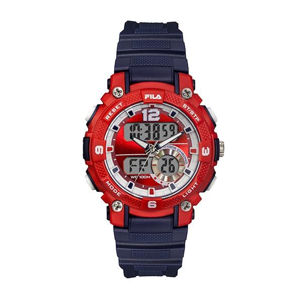 【FILA 斐樂】休閒運動電子錶-經典紅藍/38-190-002/台灣總代理公司貨享兩年保固