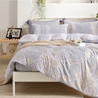 Saint Rose 錦繡花漾 雙人100%純天絲枕套床包三件組
